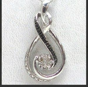Jewelry - SOLD Two tone white and black diamond pendant